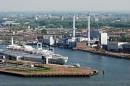 Krajobraz Rotterdamu  z Euromasztu