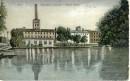Biała Fabryka L. Geyera  na starej pocztówce