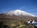 El Teide w śnieżnej szacie.