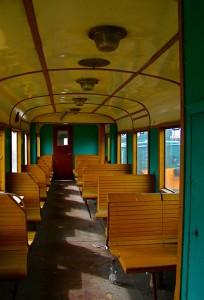 Wnętrze wyremontowanego wagonu